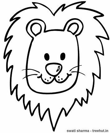 lion face coloring page lion39s head printable relaxing coloring page for adults lion page coloring face