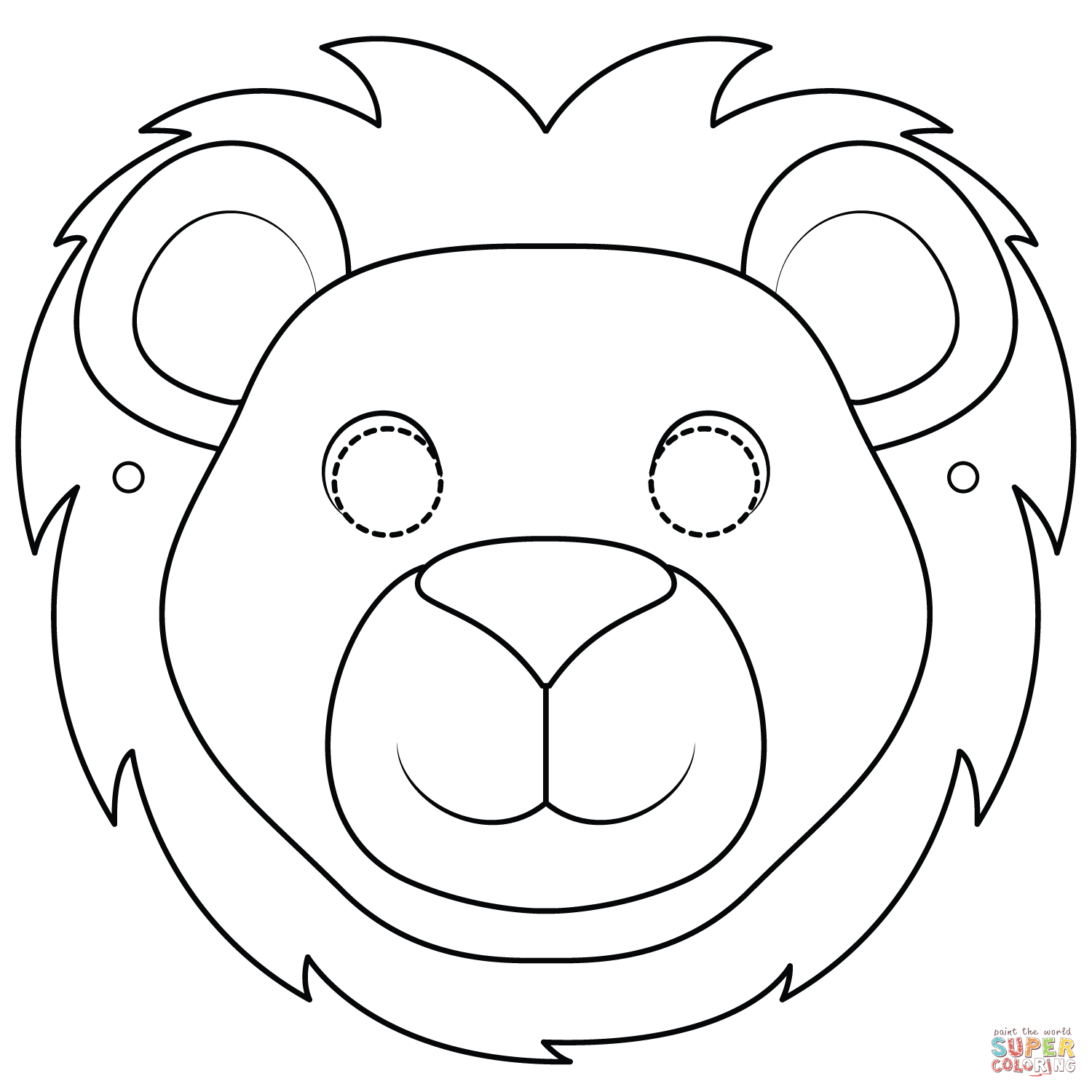 lion face coloring page mandala lion face coloring page face coloring page lion