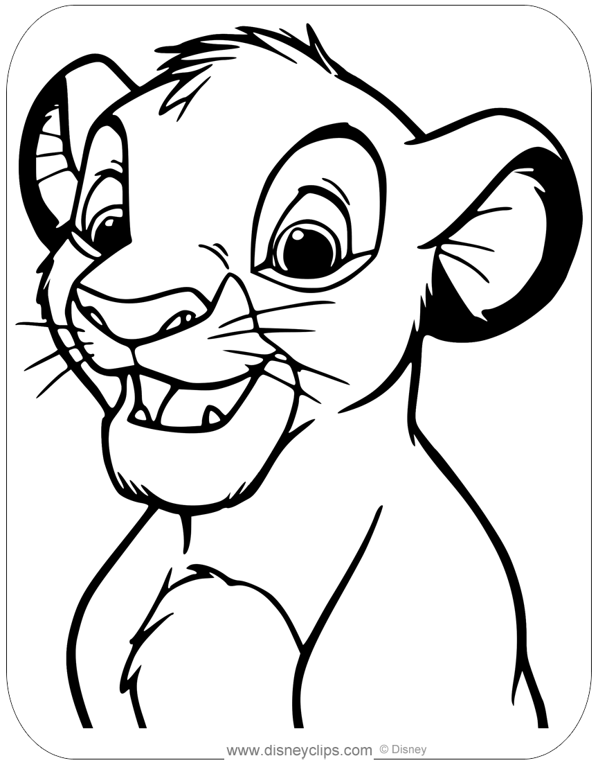 lion king coloring page the lion king coloring pages disneyclipscom coloring lion king page