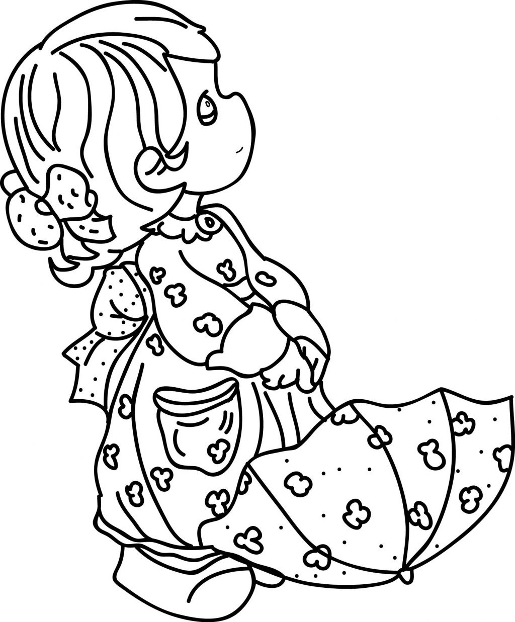 little girl coloring pictures cute girl colorable line art free clip art little coloring girl pictures