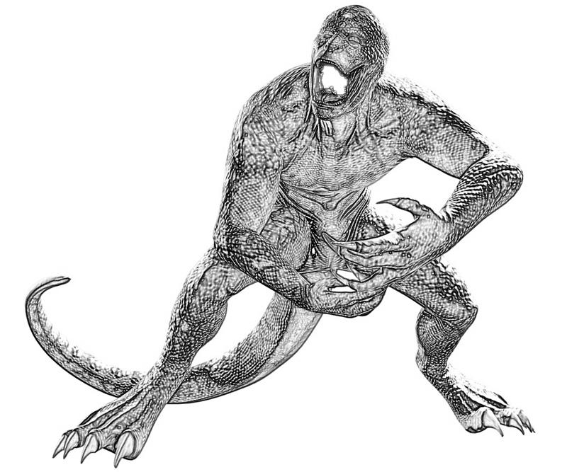 lizard man coloring pages lizard spider man coloring coloring pages lizard man coloring pages