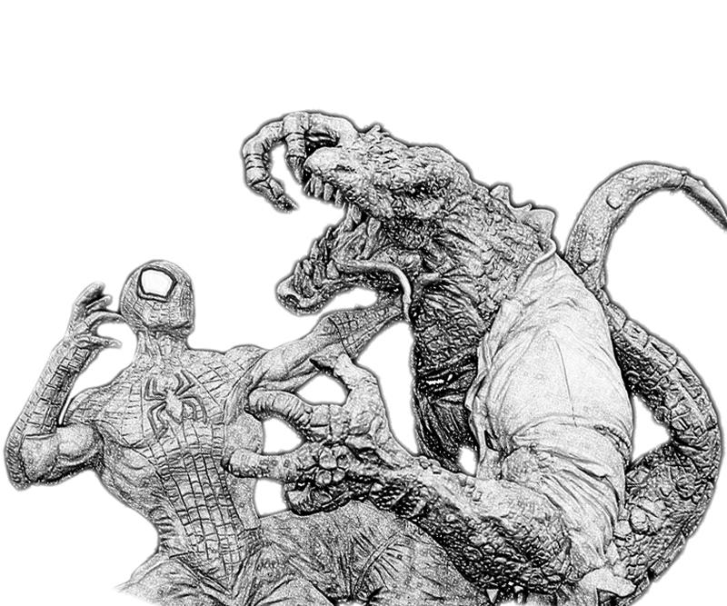 lizard man coloring pages spider man and lizard man by brian lopez santos with coloring man pages lizard