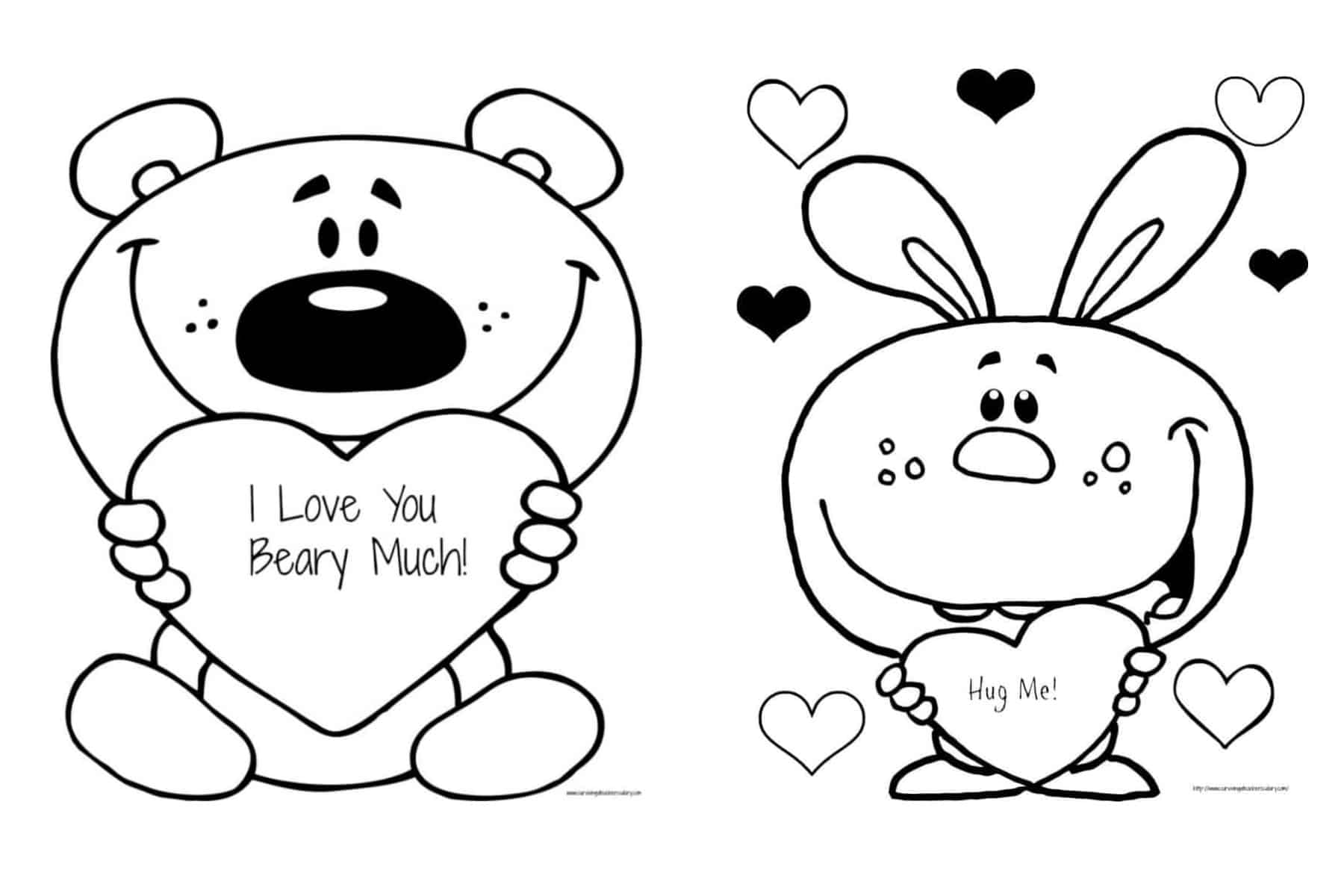 love coloring sheet free valentine39s quoti love you beary muchquot coloring page sheet love coloring