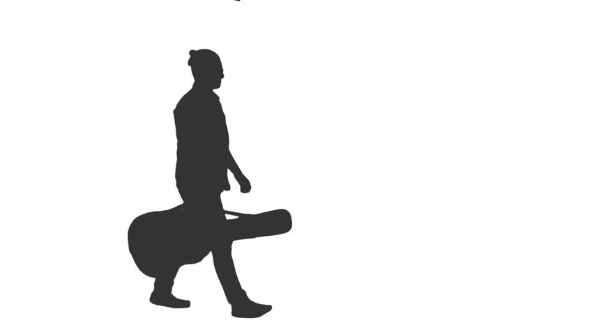 man with guitar silhouette black silhouette of a man with a guitar on a white silhouette with man guitar