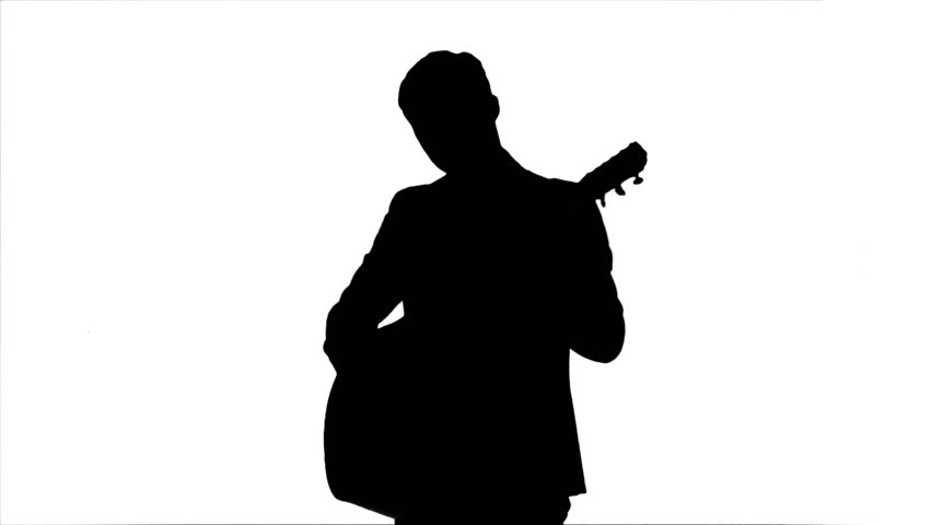 man with guitar silhouette black silhouette of guy playing guitar on white background man silhouette guitar with