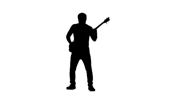 man with guitar silhouette drawing of man playing electric guitar illustrations man silhouette with guitar