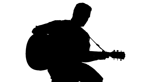 man with guitar silhouette man playing guitar drawing free download on clipartmag guitar with silhouette man
