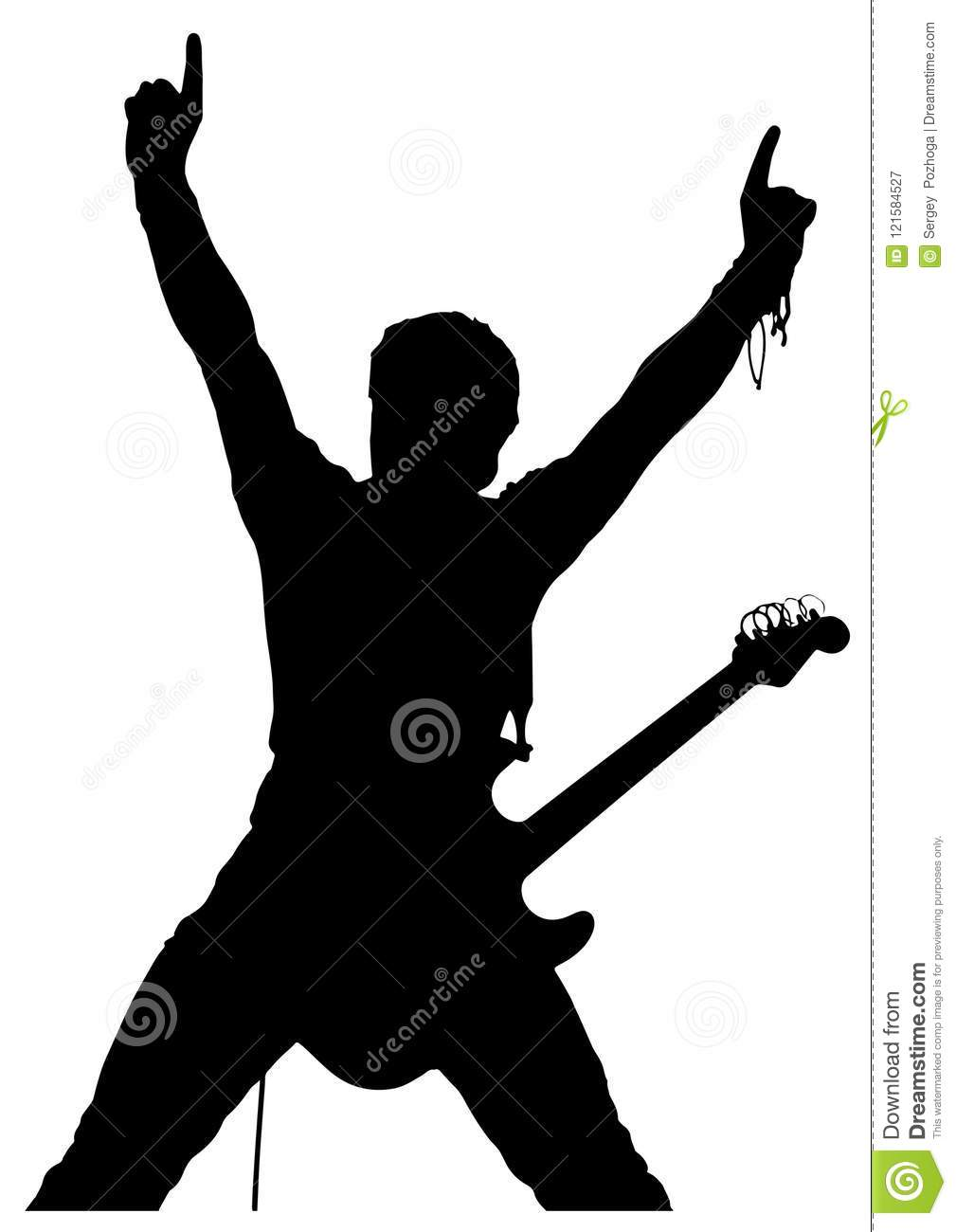 man with guitar silhouette man with guitar silhouette royalty free stock image guitar with man silhouette