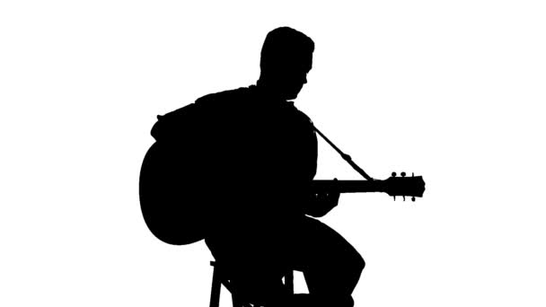 man with guitar silhouette silhouette of a man playing a guitar vector image man silhouette with guitar
