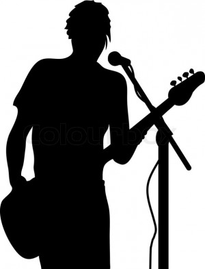 man with guitar silhouette silhouette of a man playing an acoustic guitar vector man with guitar silhouette