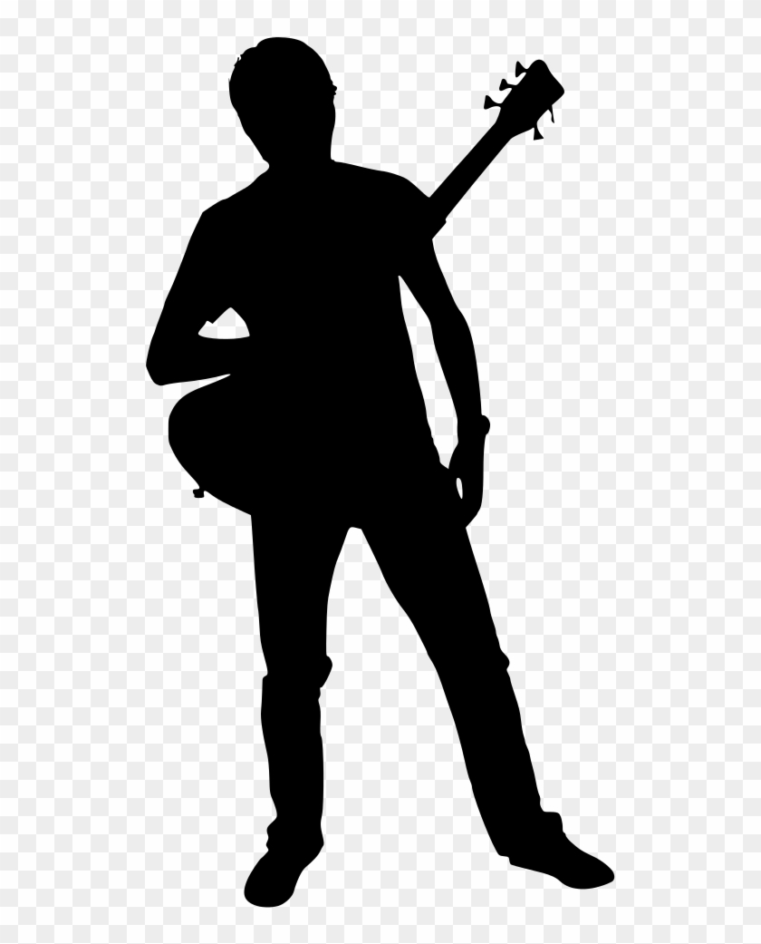 man with guitar silhouette silhouette of man with electric guitar stock illustration with guitar silhouette man