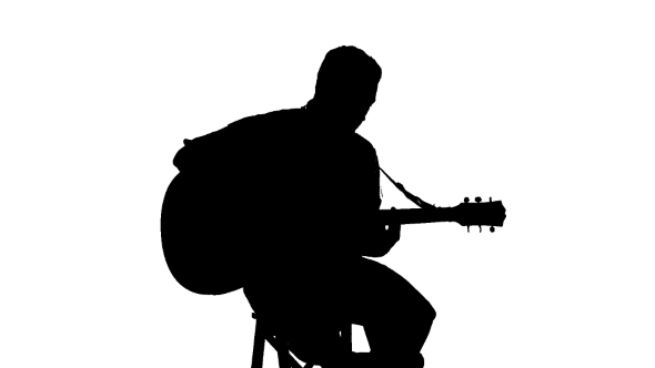 man with guitar silhouette silhouette of sitting man playing the guitar on a by man silhouette guitar with