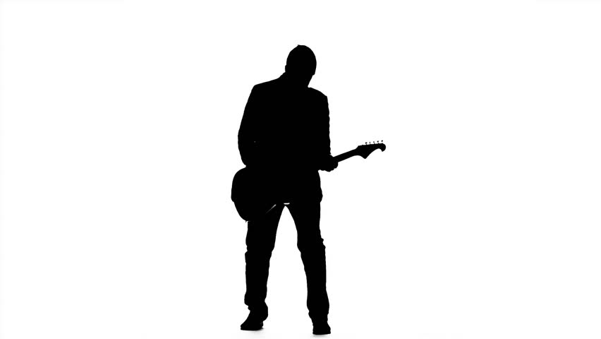 man with guitar silhouette white guitar silhouette at getdrawings free download with man guitar silhouette