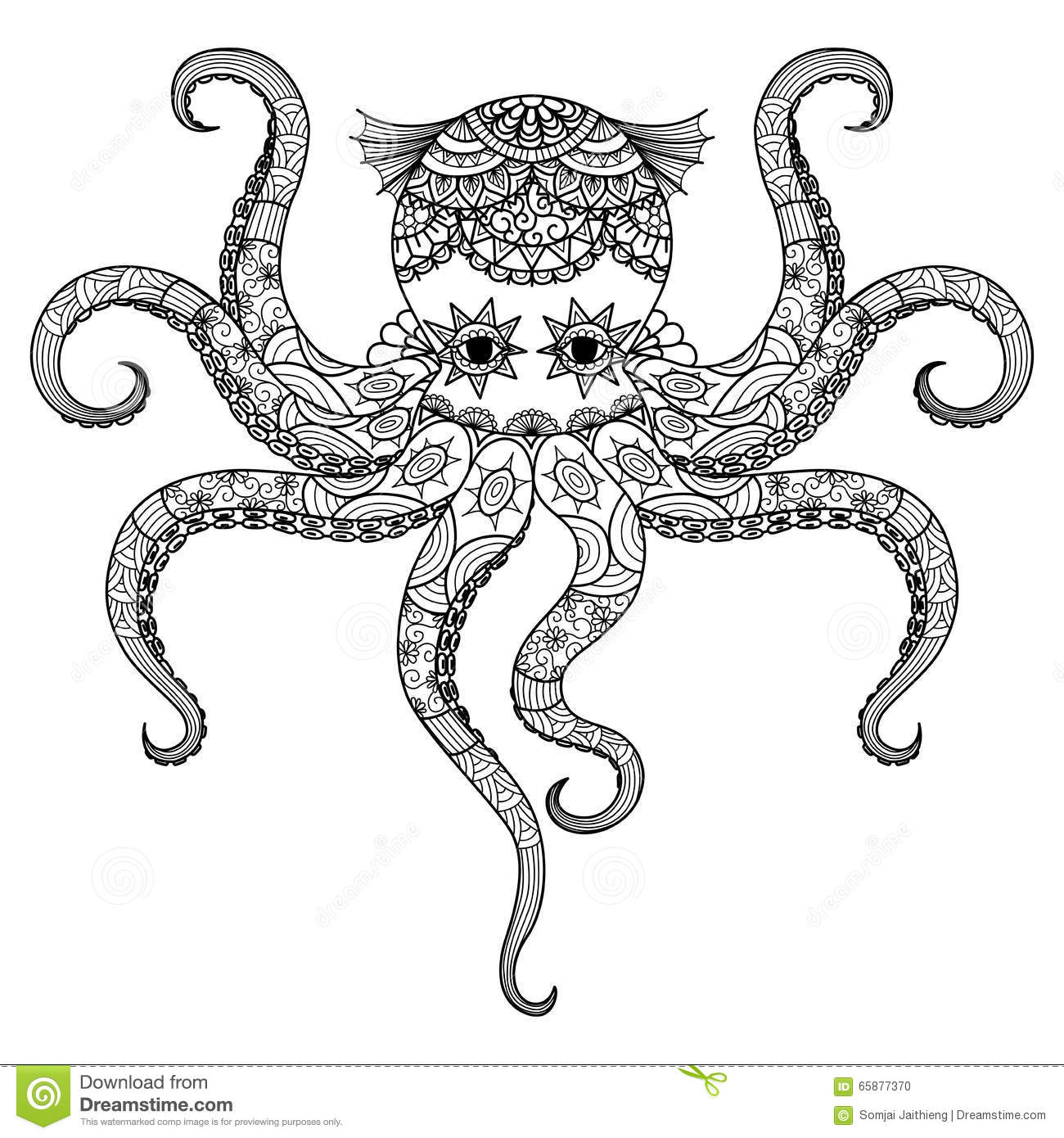 mandala octopus coloring page drawing octopus zentangle design for coloring book for mandala page octopus coloring