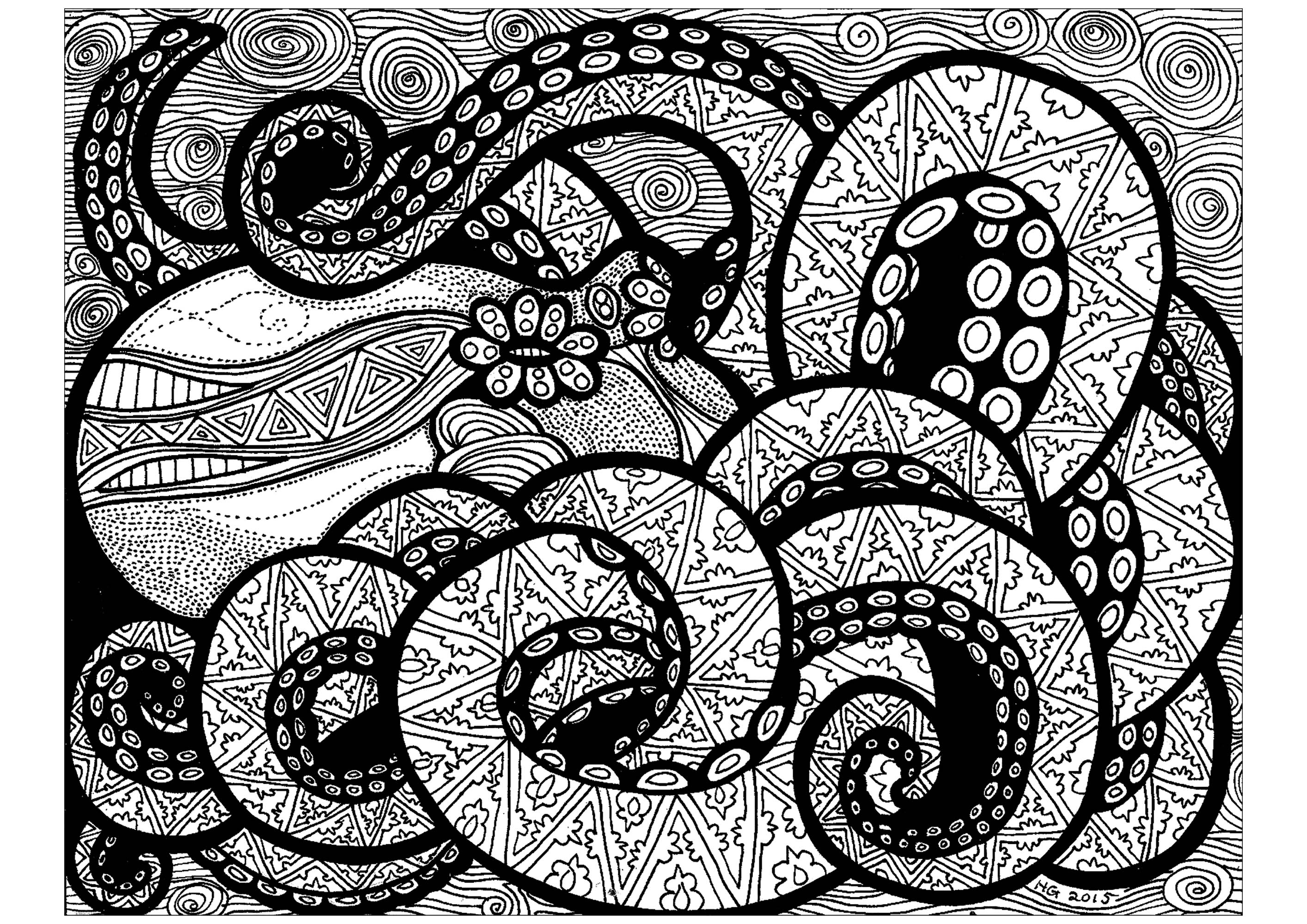 mandala octopus coloring page lines of the octopus zentangle adult coloring pages page mandala octopus coloring