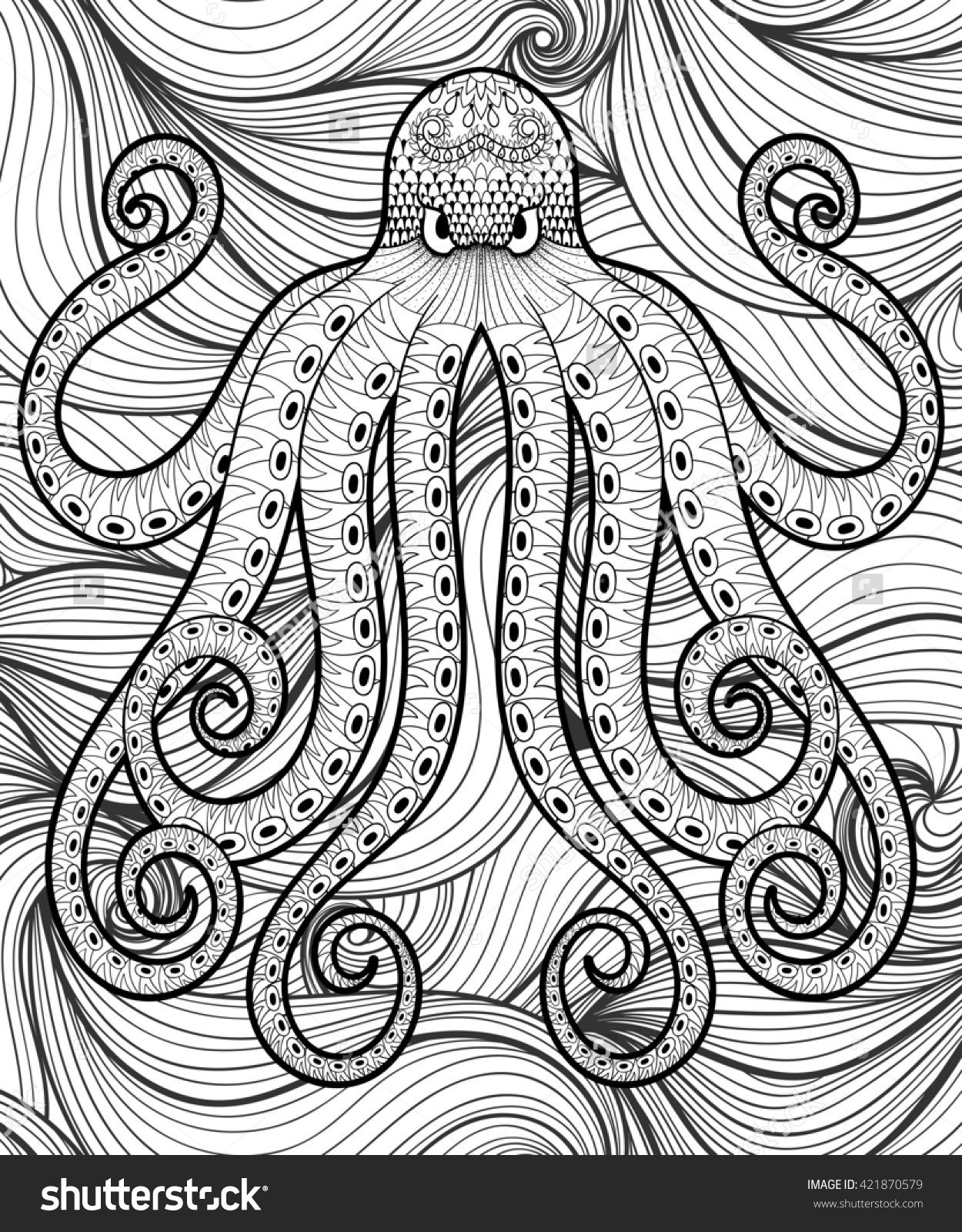 mandala octopus coloring page octopus colorful meditations coloring book by stephanie octopus coloring page mandala