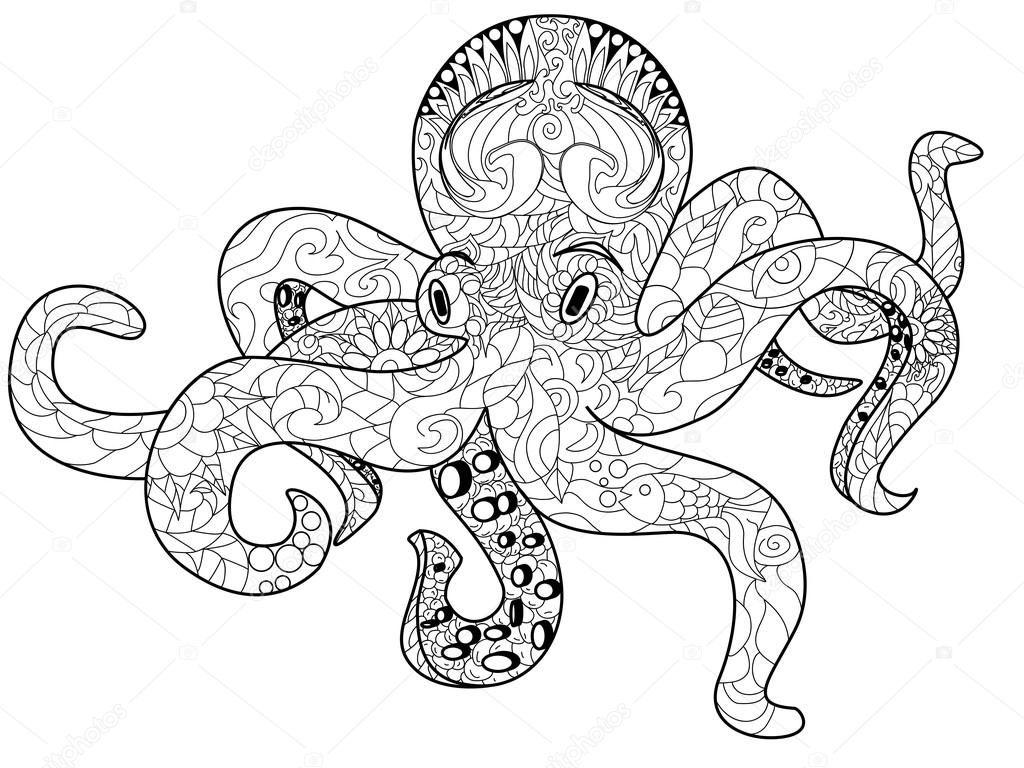 mandala octopus coloring page octopus pages for adults coloring pages octopus mandala coloring page