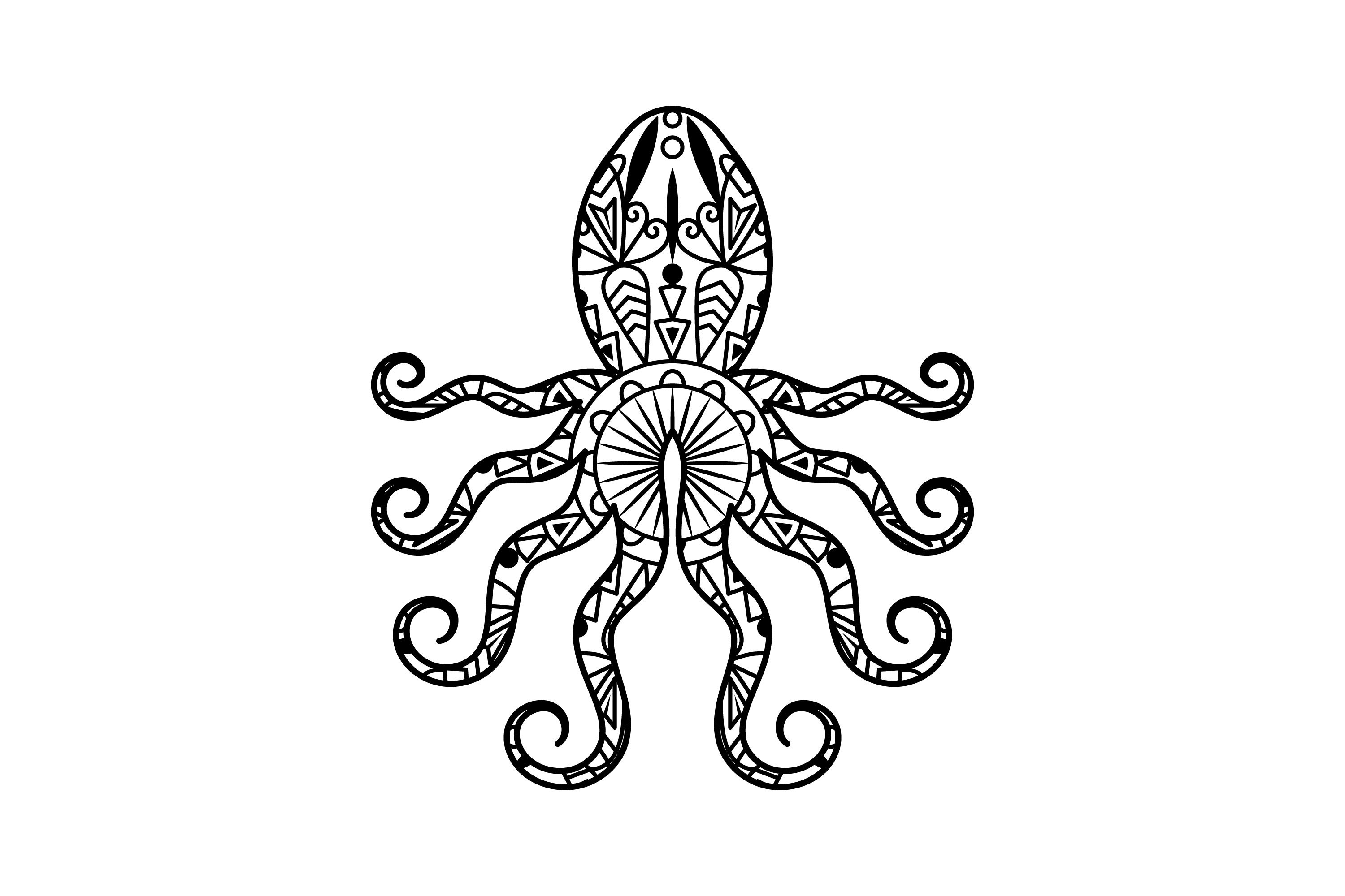 mandala octopus coloring page zentangle octopus in sea for adult coloring page sea mandala octopus page coloring