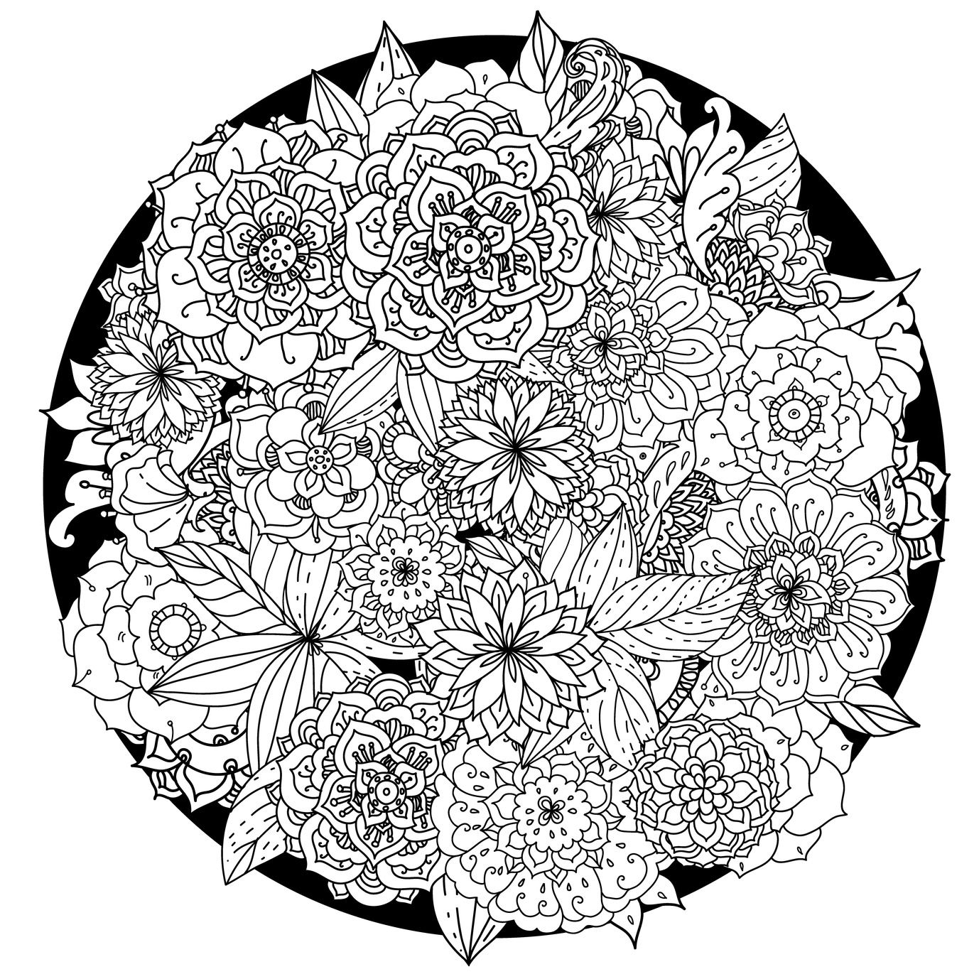 mandala pictures to color free clipart of a black and white adult coloring page to mandala pictures color
