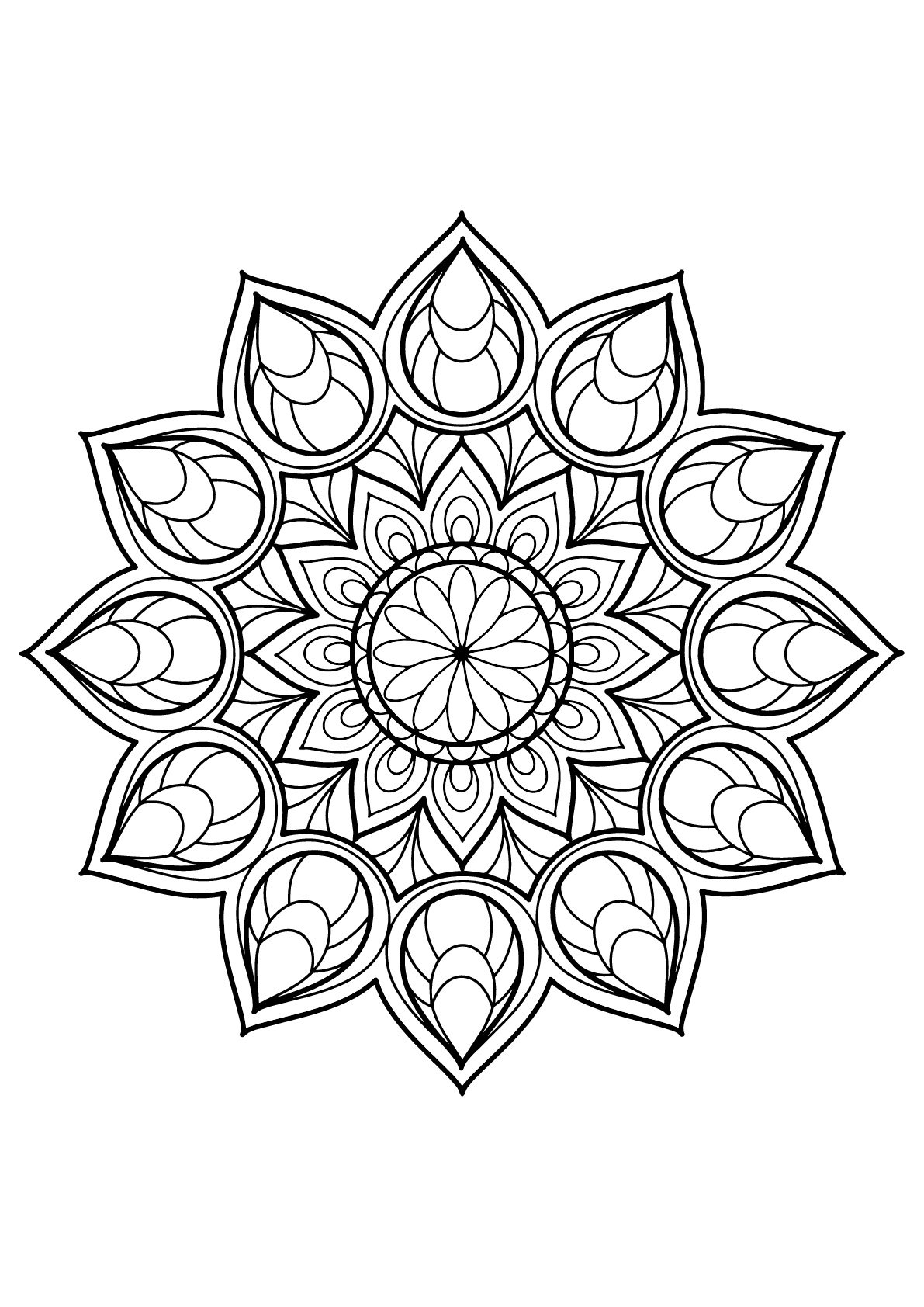 mandala pictures to color mandala to download in pdf 6 malas adult coloring pages mandala color to pictures