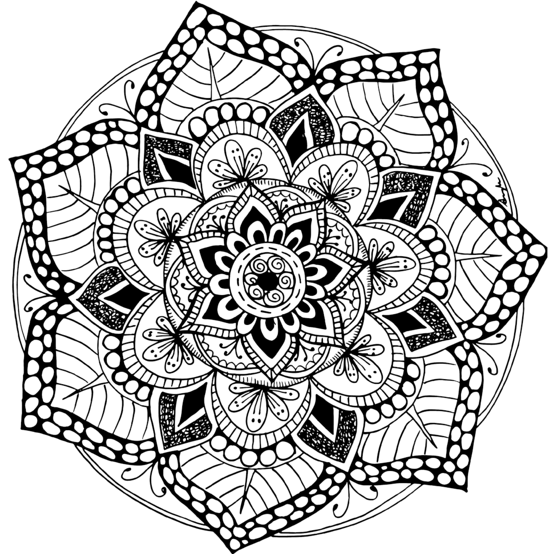 mandala pictures to color opal palace mandala coloring page favecraftscom pictures color to mandala