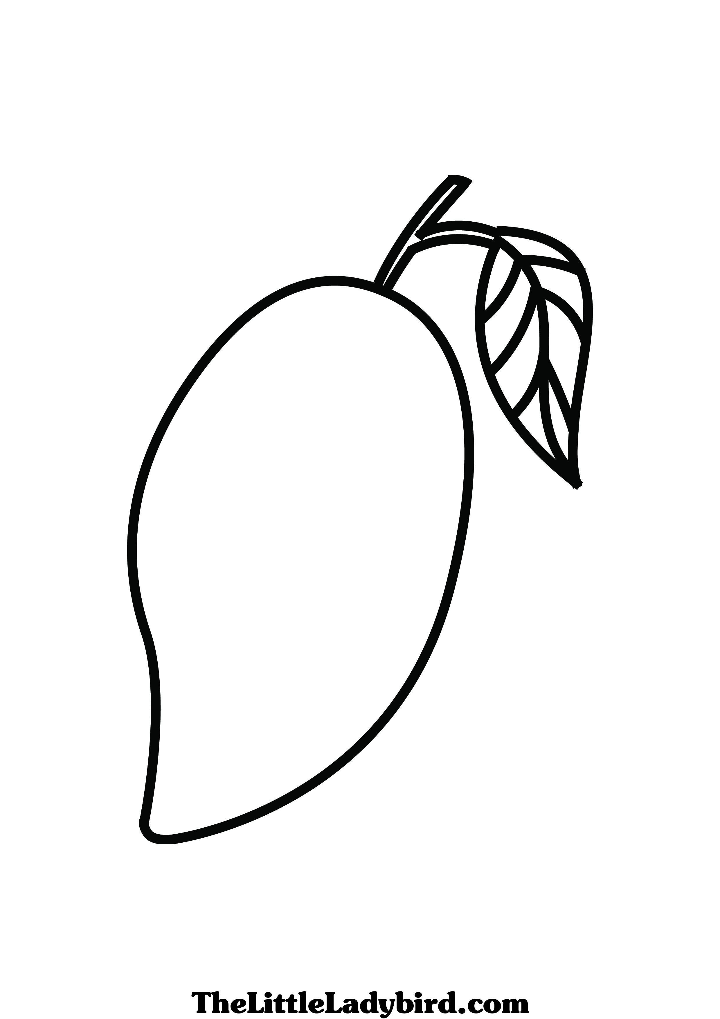 mango clipart coloring mango coloring pages sketch coloring page coloring home mango coloring clipart