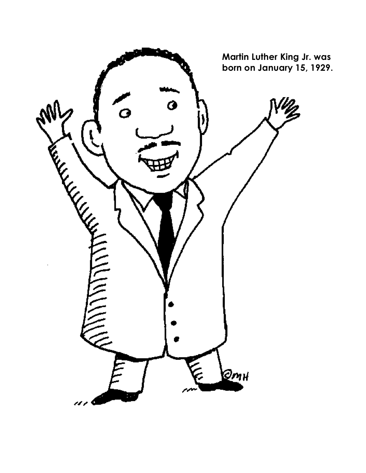 martin luther king jr coloring pages free free printable martin luther king jr day mlk day pages coloring luther free jr king martin