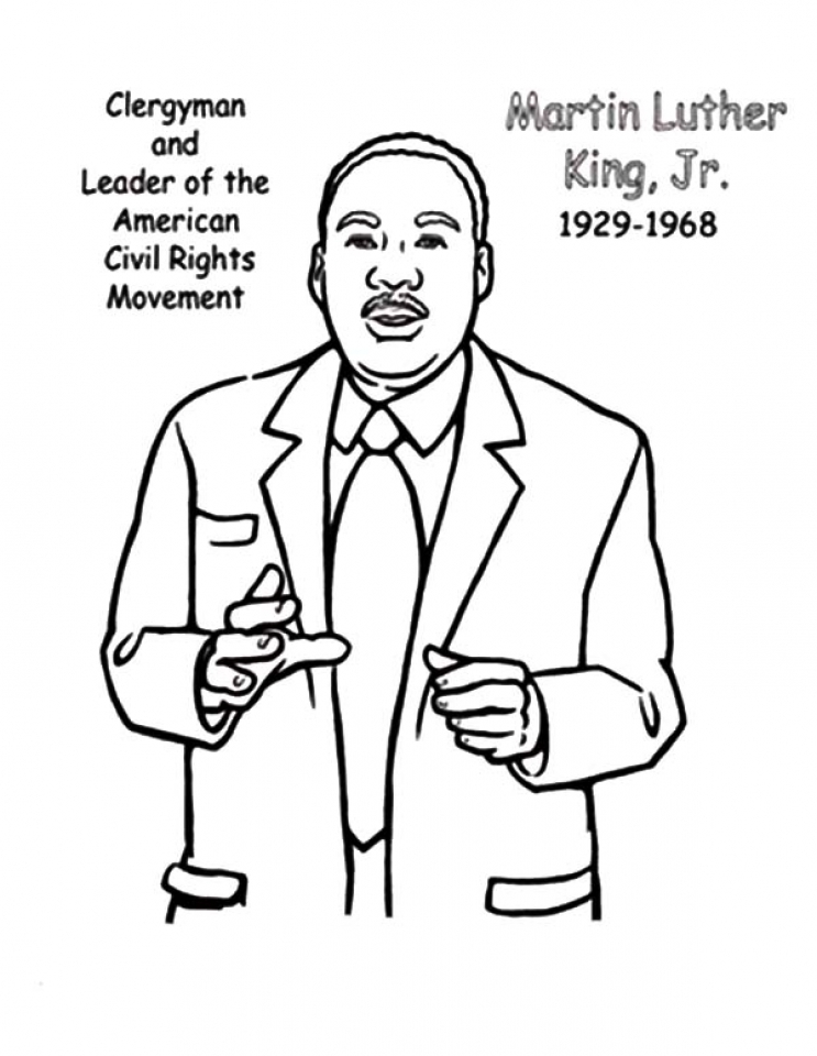 martin luther king jr coloring pages free get this free picture of martin luther king jr coloring free luther martin king jr pages coloring