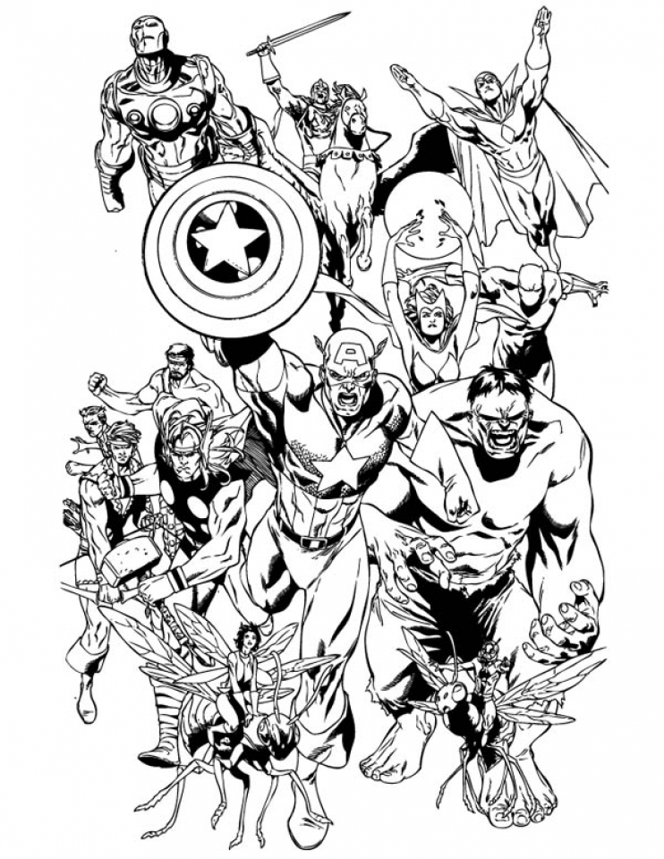 marvel avengers coloring pages famous characters comics avengers avengers coloring marvel coloring pages avengers