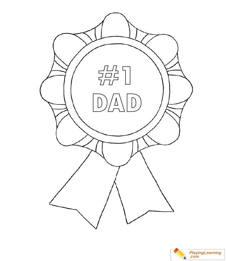 medal coloring page happy fathers day medal coloring page 02 free happy page coloring medal