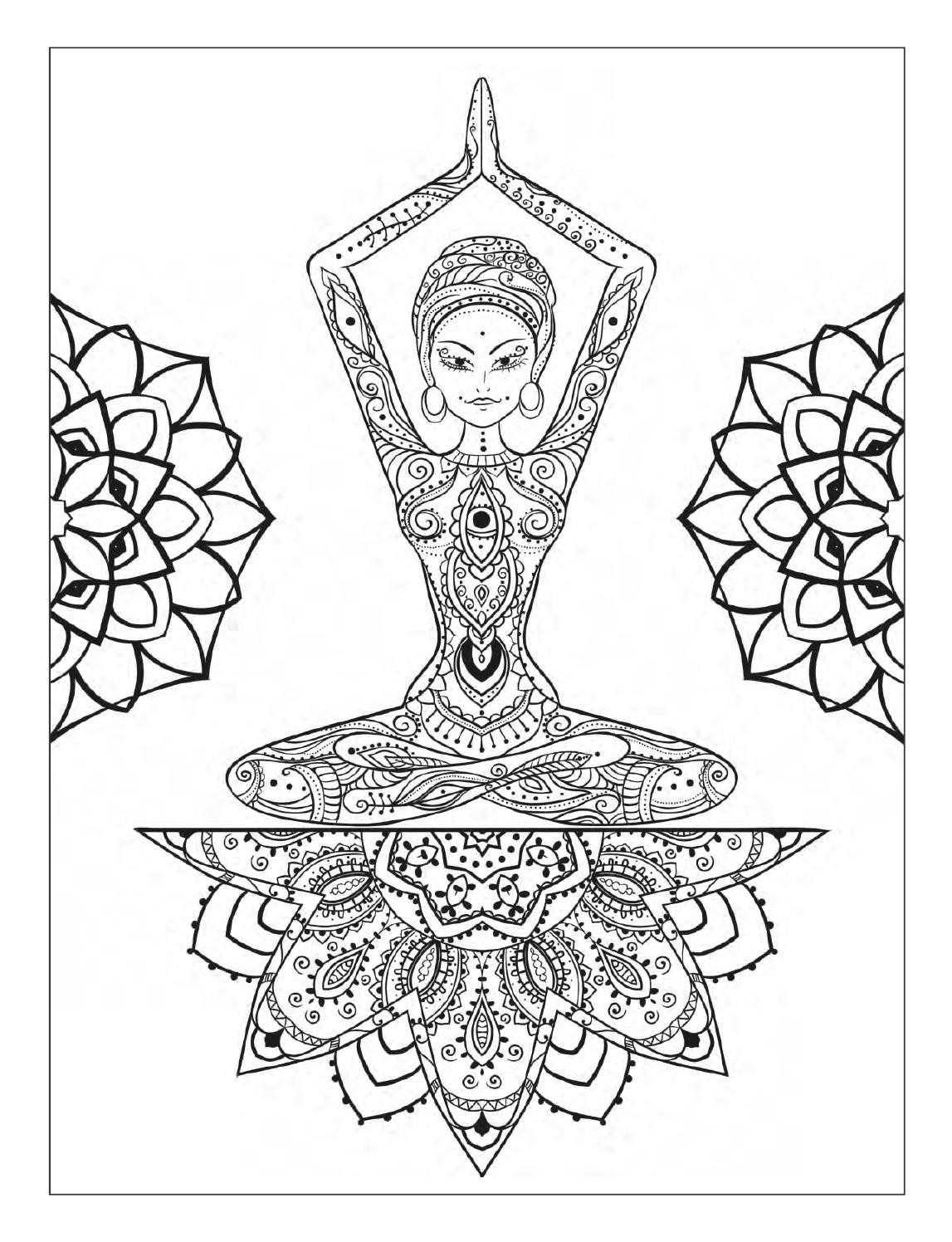 meditation coloring pages meditation printable adult coloring page from favoreads etsy coloring meditation pages