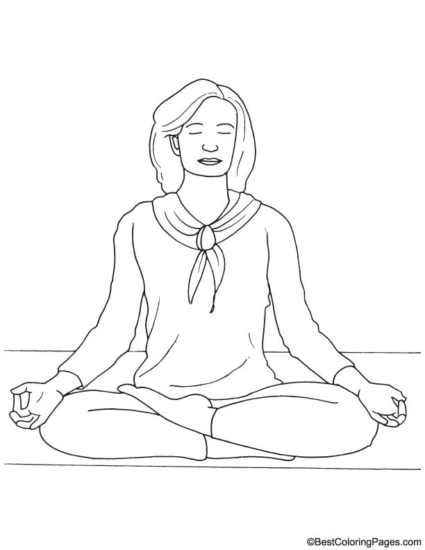 meditation coloring pages yoga and meditation coloring book for adults with yoga meditation coloring pages