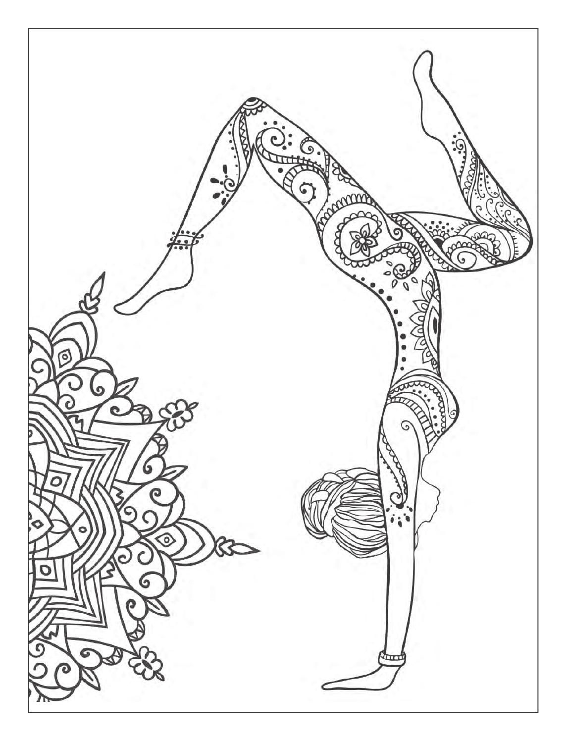 meditation coloring pages yoga and meditation coloring book for adults with yoga pages meditation coloring