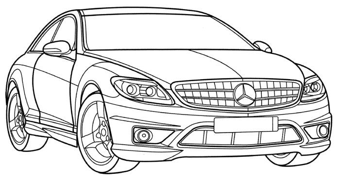 mercedes coloring sheet mercedes benz drawing at getdrawings free download sheet coloring mercedes