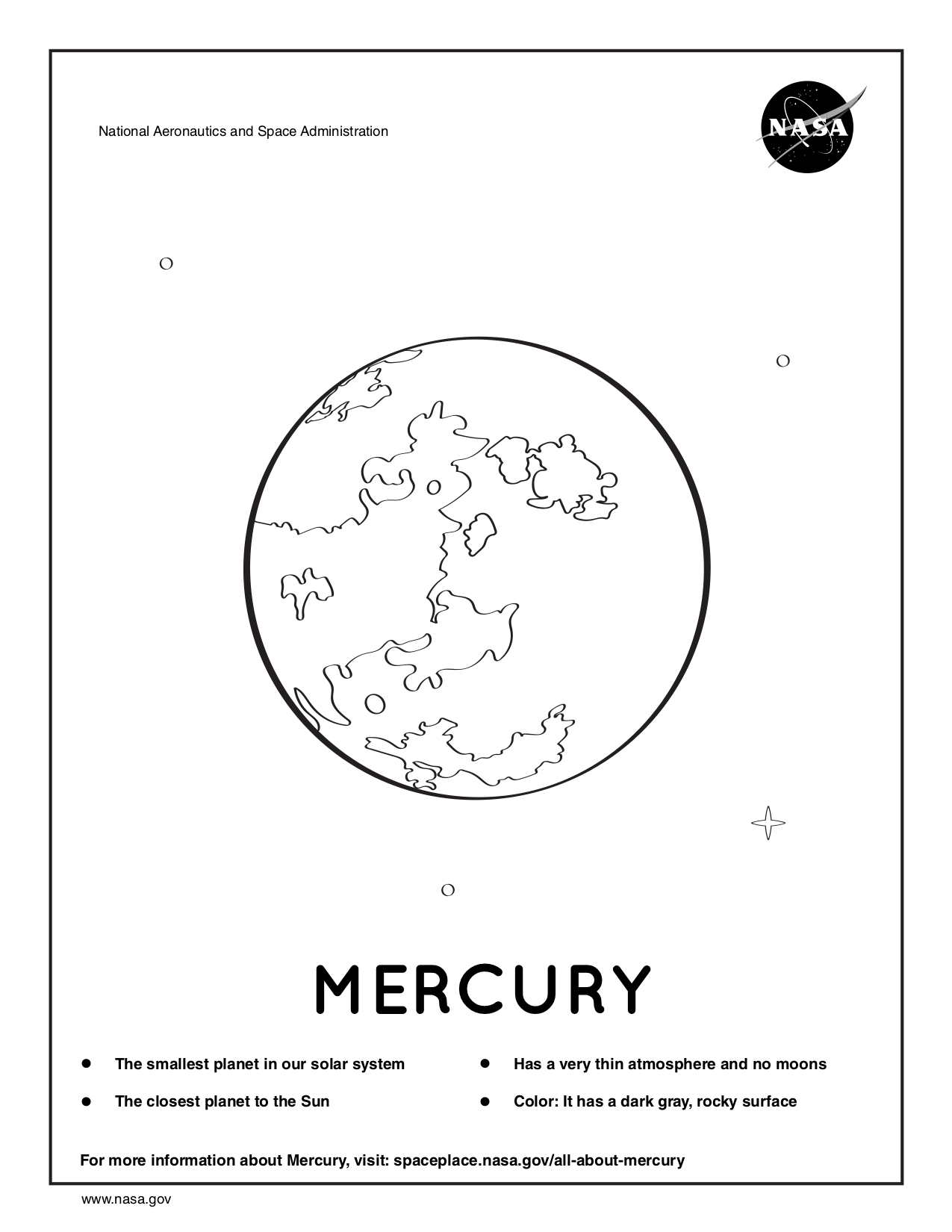 mercury coloring pages the planet mercury detailed coloring page free mercury pages coloring