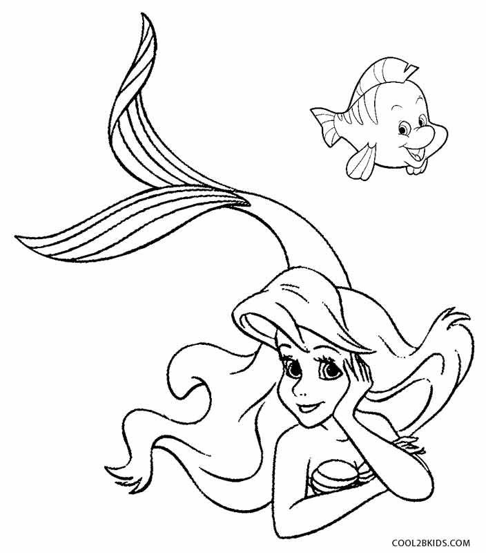 mermaid color the little mermaid coloring pages download and print the color mermaid