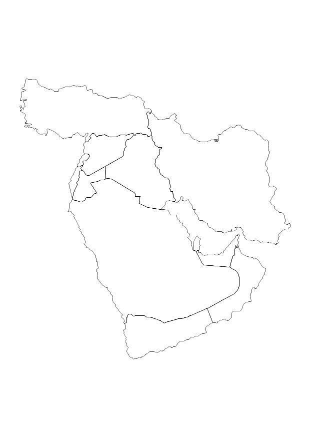 middle east map coloring page a printable map of the middle east labeled with the names coloring east map page middle
