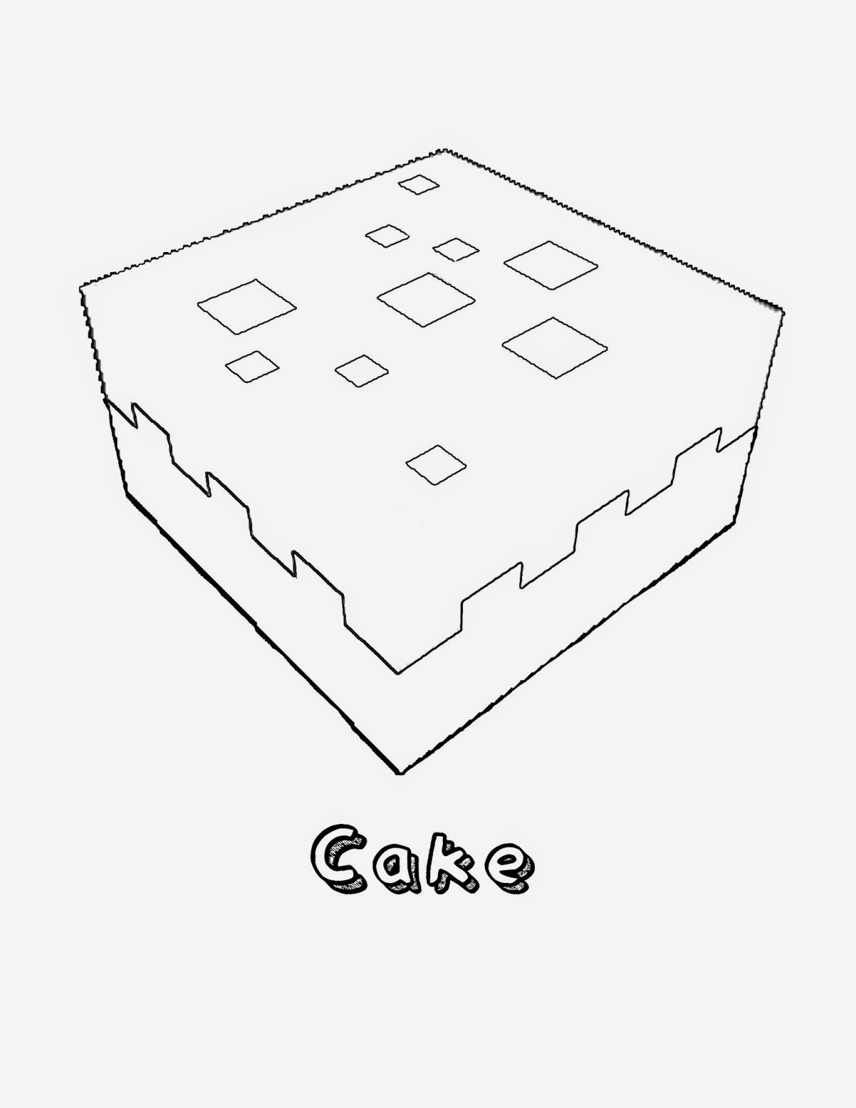 minecraft cake coloring pages how to draw cake minecraft minecraft coloring pages cake