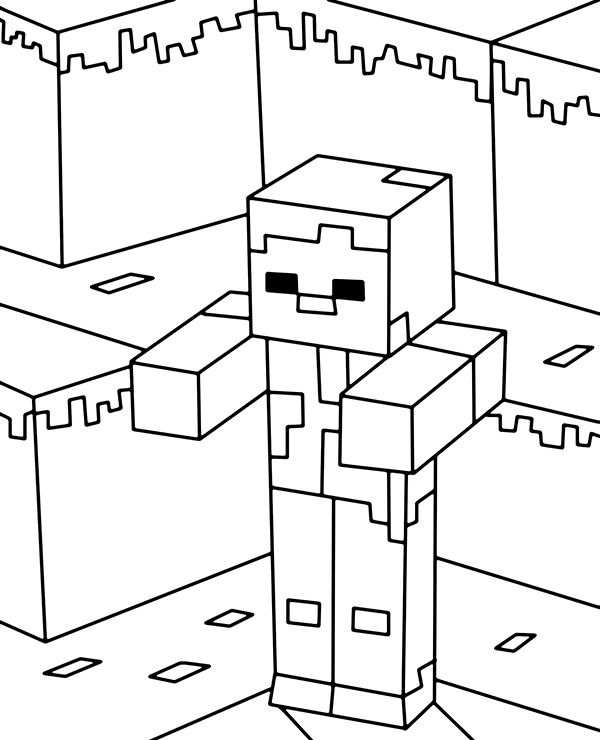 minecraft cake coloring pages minecraft minecraf zombie coloring page in 2020 coloring cake minecraft pages