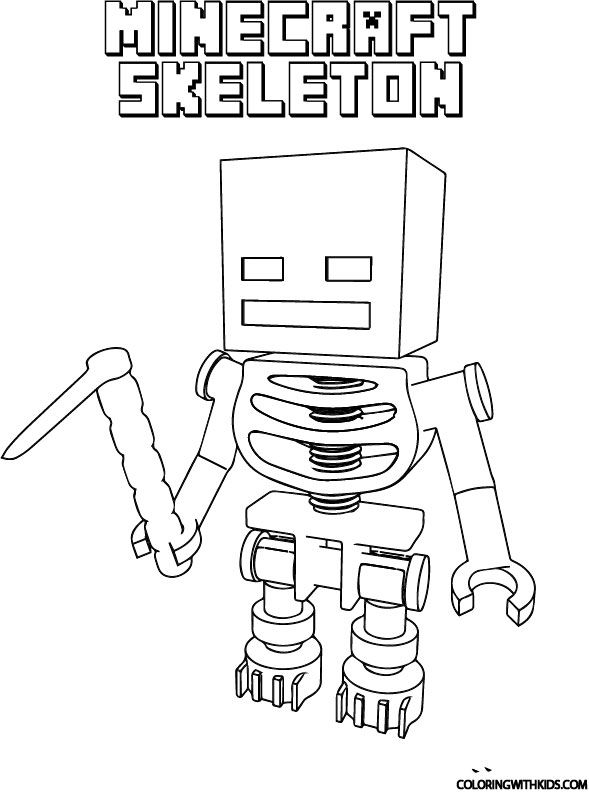 minecraft cake coloring pages minecraft skeleton coloring page in 2020 minecraft pages cake coloring minecraft