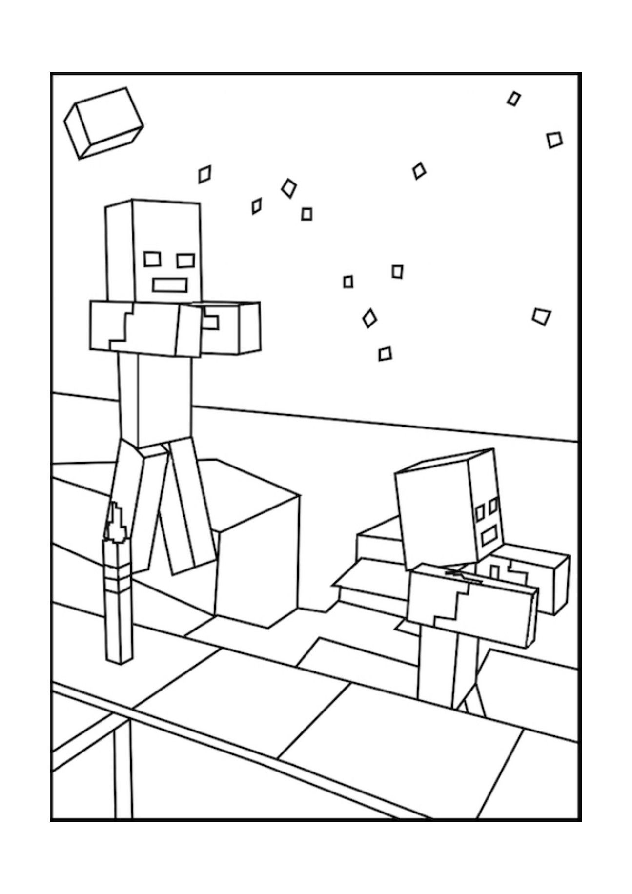 minecraft cake coloring pages minecraft villager coloring page youngandtaecom in 2020 minecraft pages coloring cake