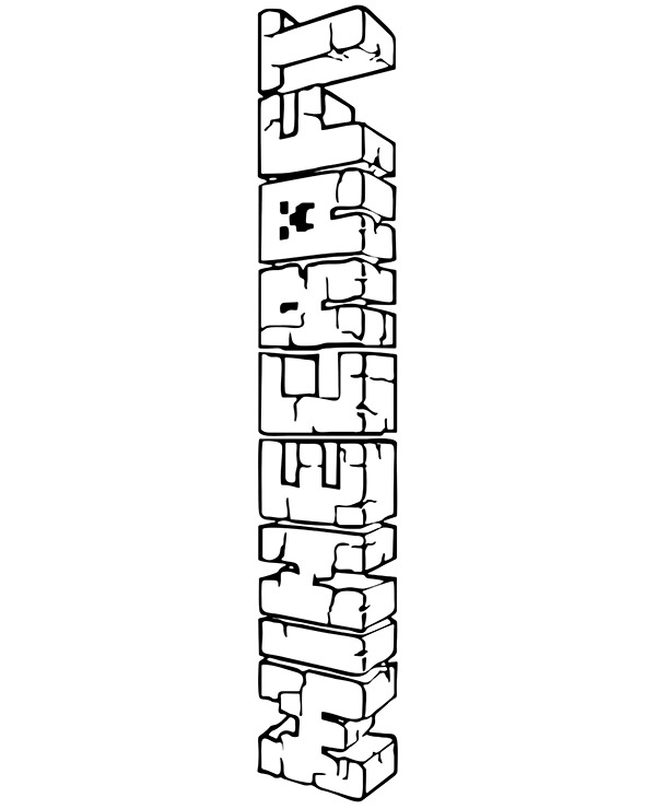 minecraft logo coloring minecraft logo coloring page coloring kids coloring kids minecraft logo coloring