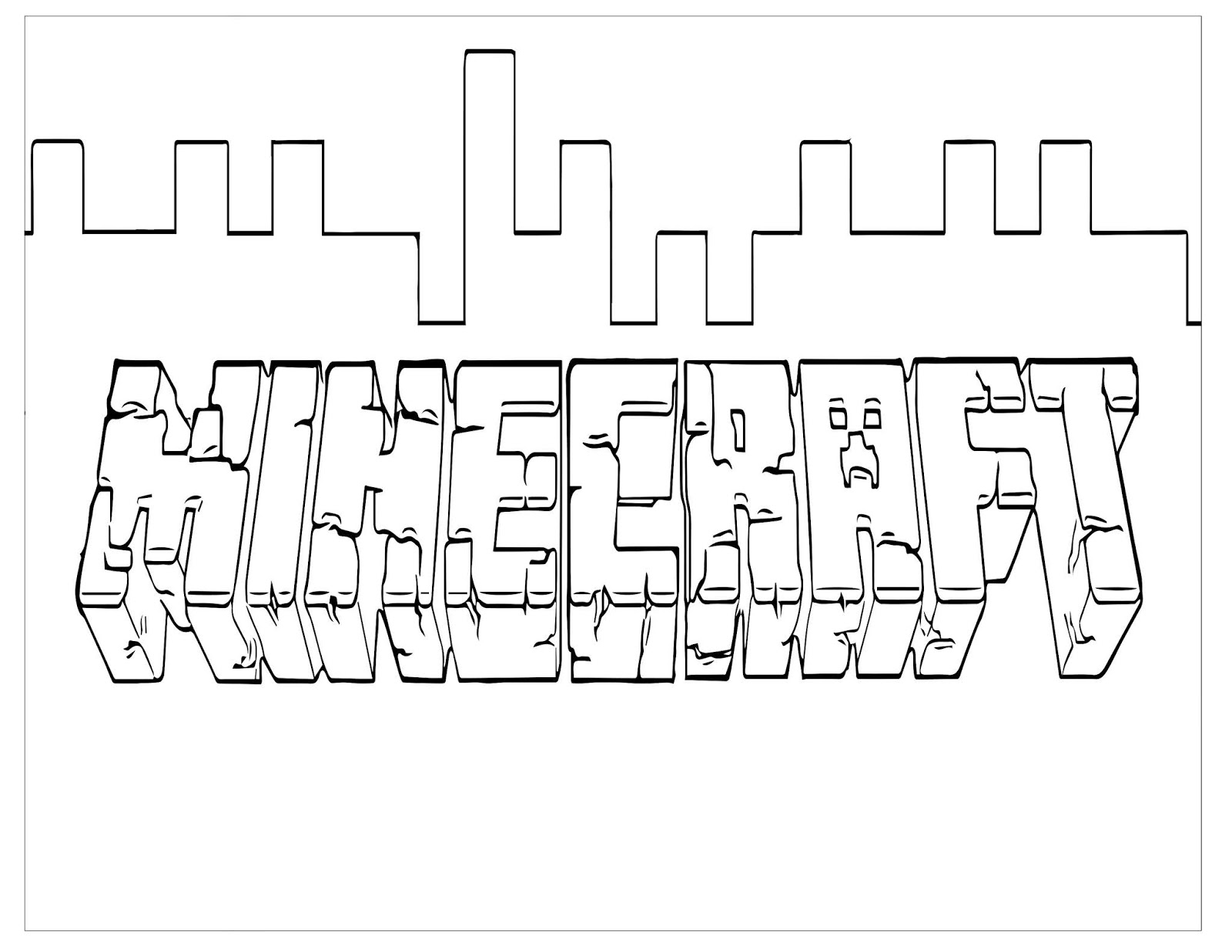 minecraft logo coloring my cup overflows 2018 logo coloring minecraft