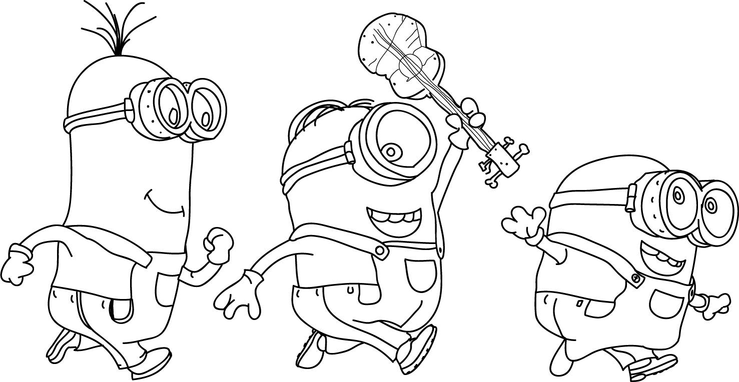 minion coloring pictures print download minion coloring pages for kids to have minion coloring pictures 1 1