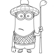 minion golf coloring page cool minion waiting golf coloring page minion coloring golf coloring minion page