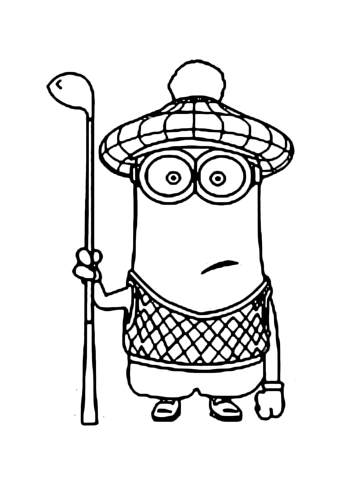 minion golf coloring page play golf in the summer sports coloring pages coloring coloring golf minion page