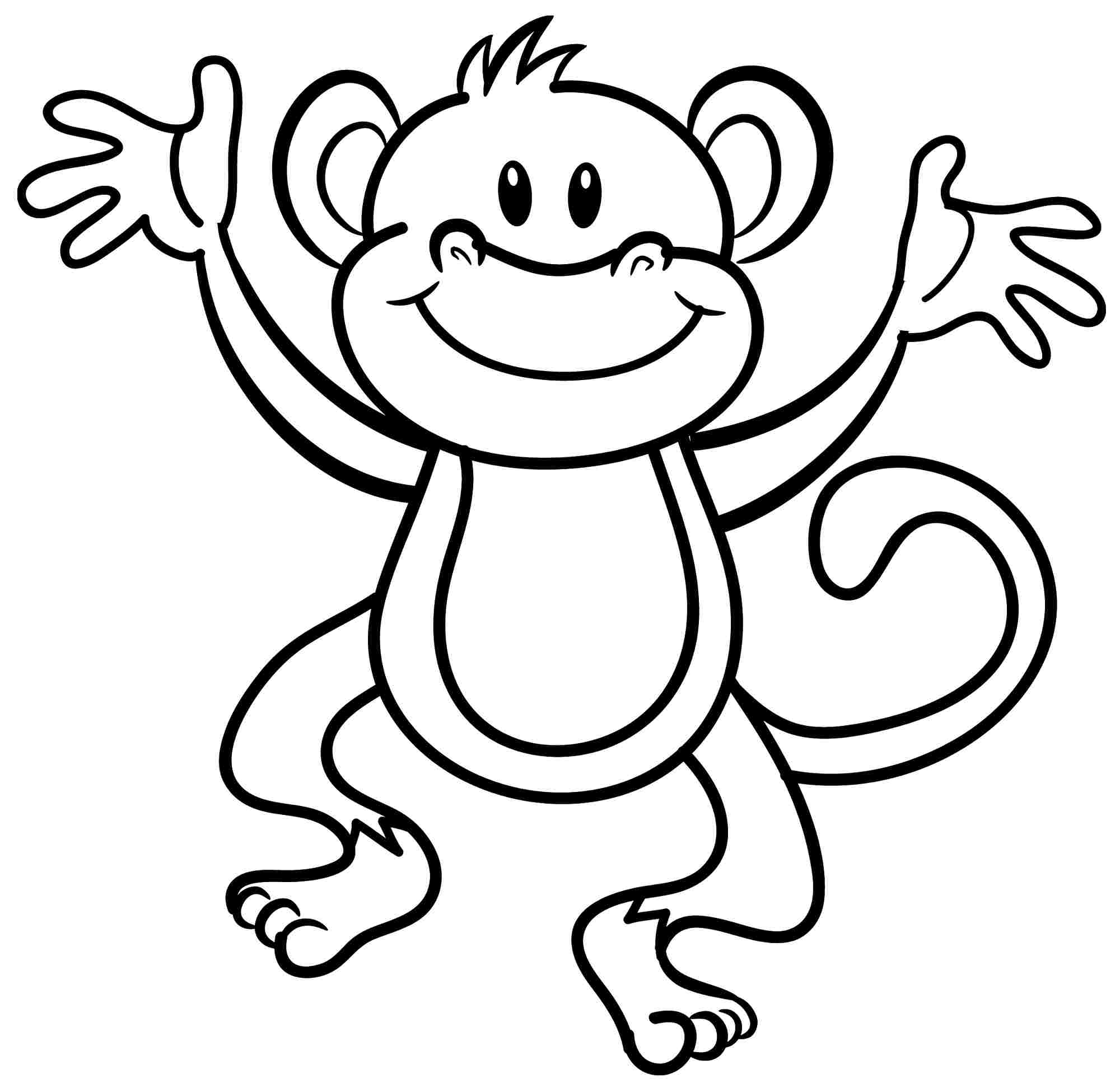 monkey pictures for coloring easy monkey coloring pages tripafethna coloring for pictures monkey