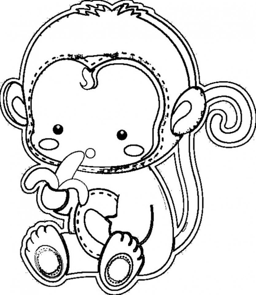 monkey pictures for coloring get this cute baby monkey coloring pages for kids 76301 pictures for monkey coloring