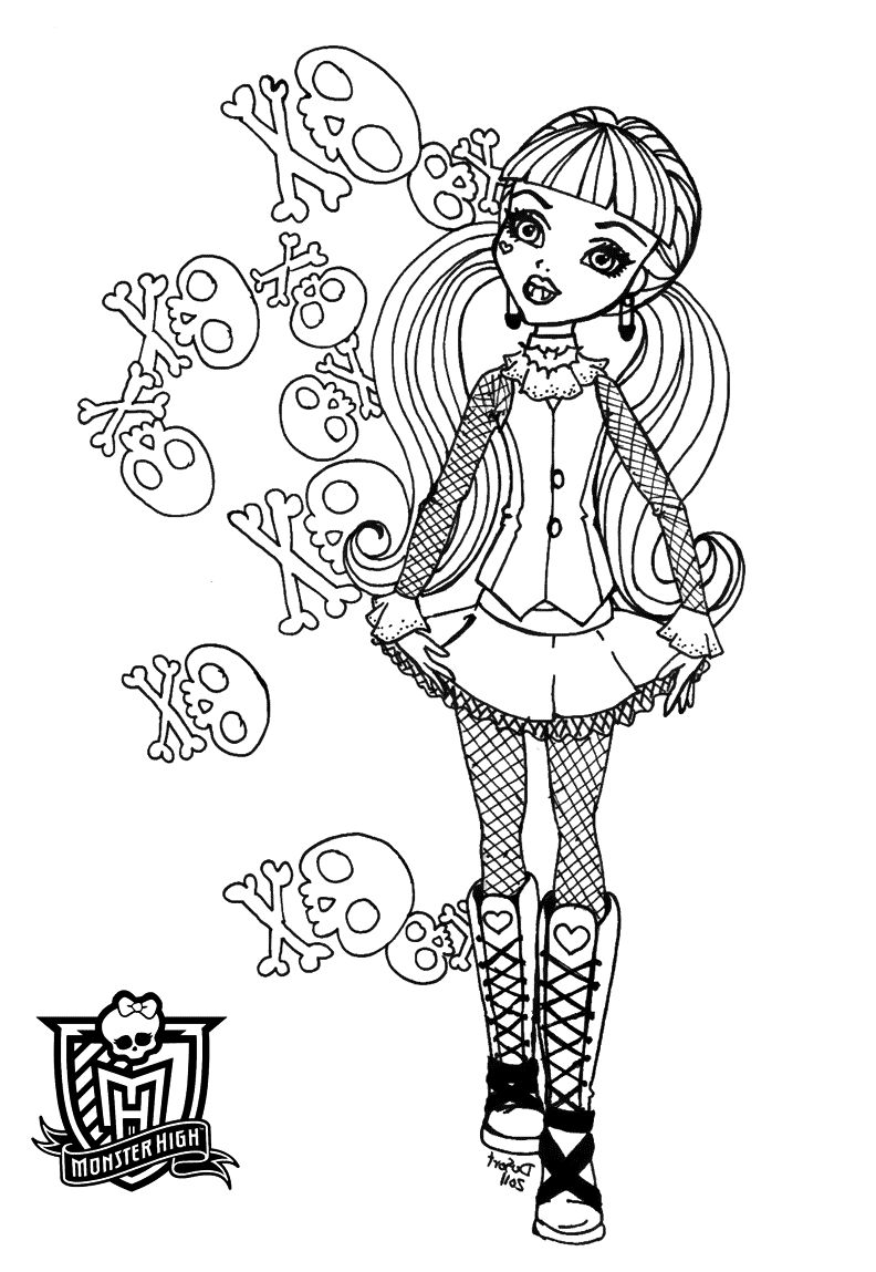 monster high coloring pages print all monster high dolls coloring pages coloring home coloring print high pages monster