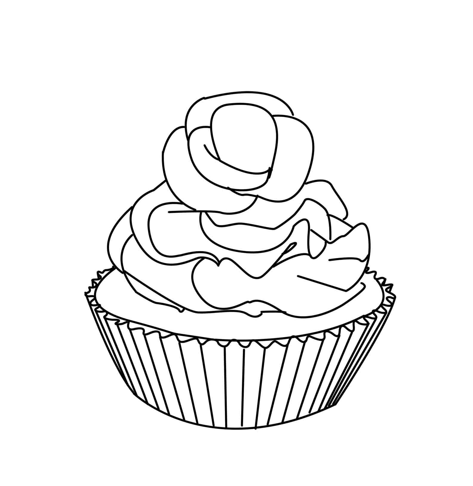 muffin pictures to color muffins clipart outline muffins outline transparent free to pictures muffin color